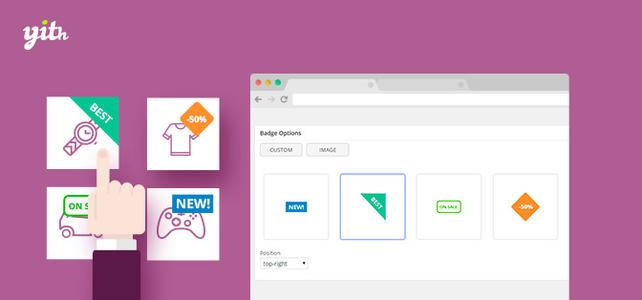 商品图标角标徽章管理高级版YITH WooCommerce Badge Management Premium v1.3.26 wordpress外贸跨境电商商城商品图片添加促销图标插件